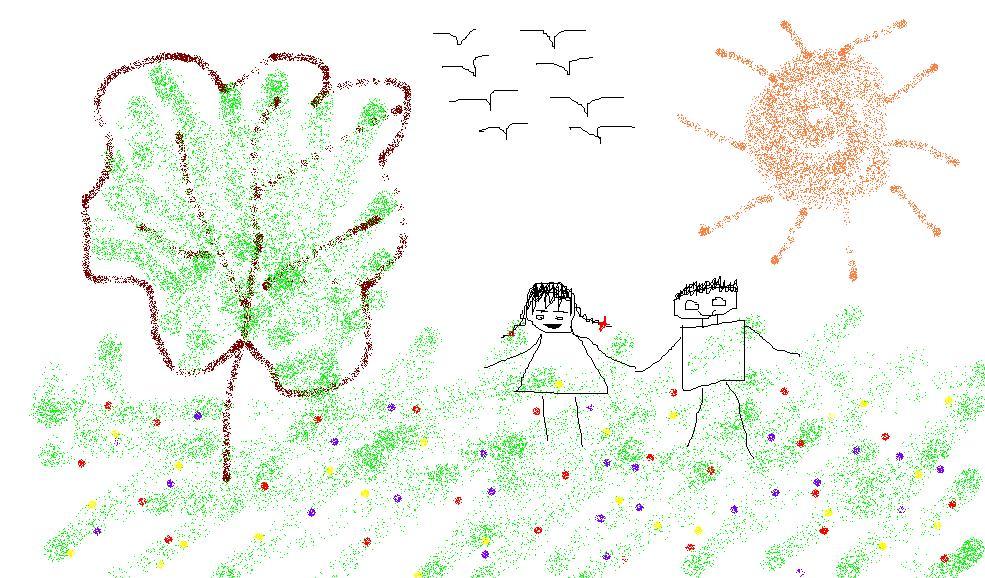 送给大家一幅画儿吧,我自己画的.祝大家快乐到永远.