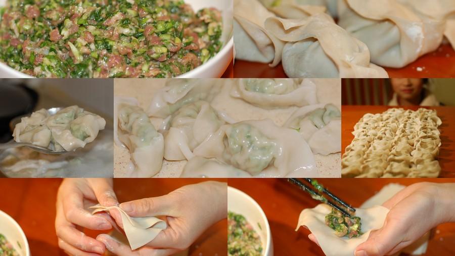 正方形饺子皮水饺的包法图解