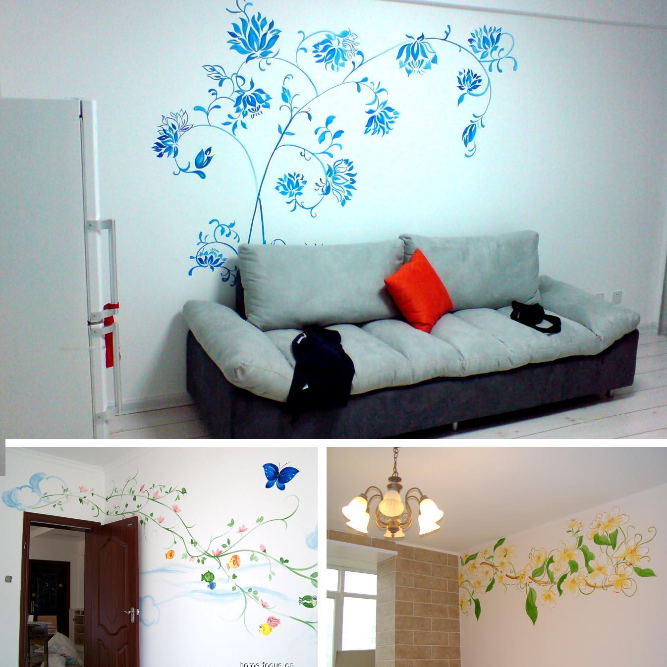 时尚家居 手绘墙 个性装饰!
