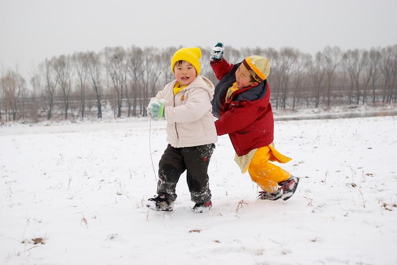 """拍的""""儿童雪景照"""""""