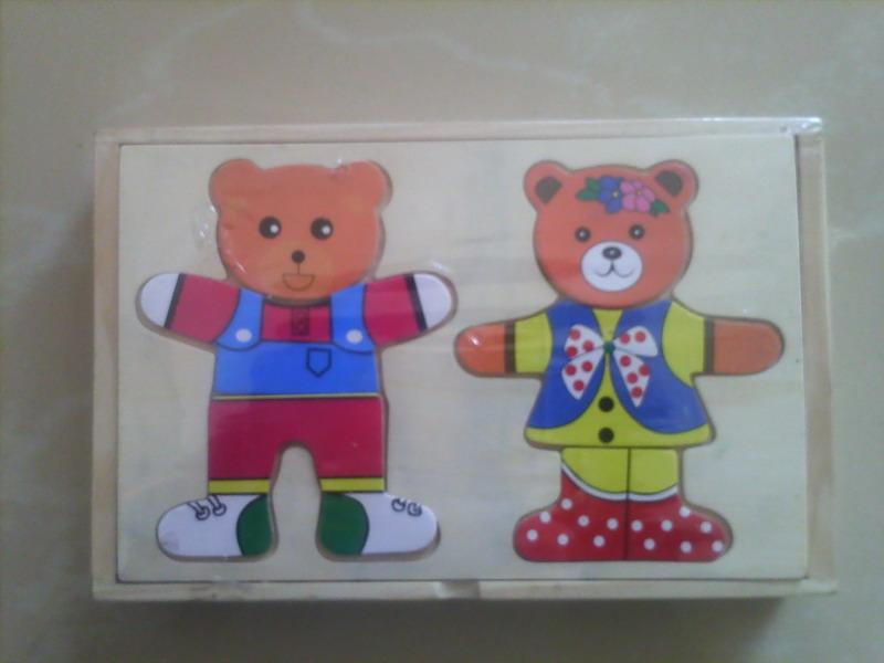 小熊穿衣,油画棒,手抓字母板和智慧计算架