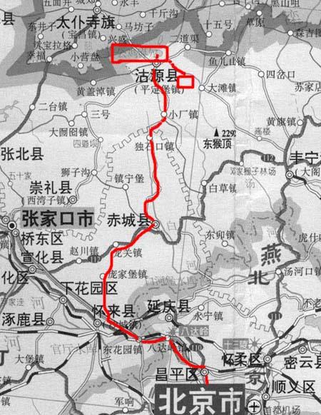 内蒙古风景区地图