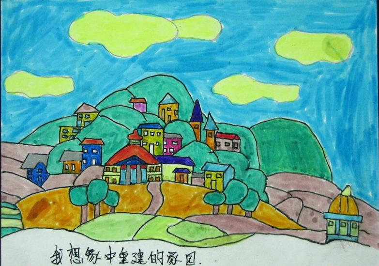 水粉画,很漂亮; 小学三年级画画图片; 孩子们的明信片(从小学三年级到