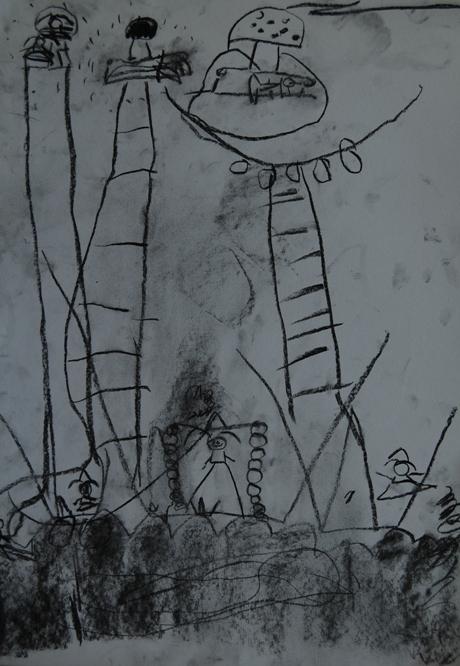 我们孩子的素描画