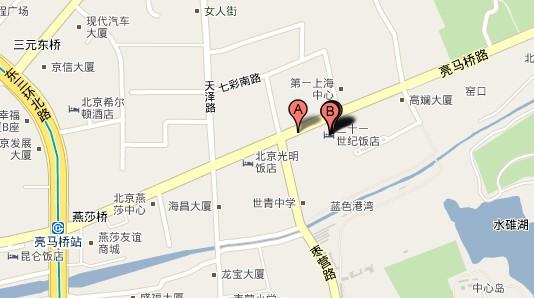 21世纪饭店地图