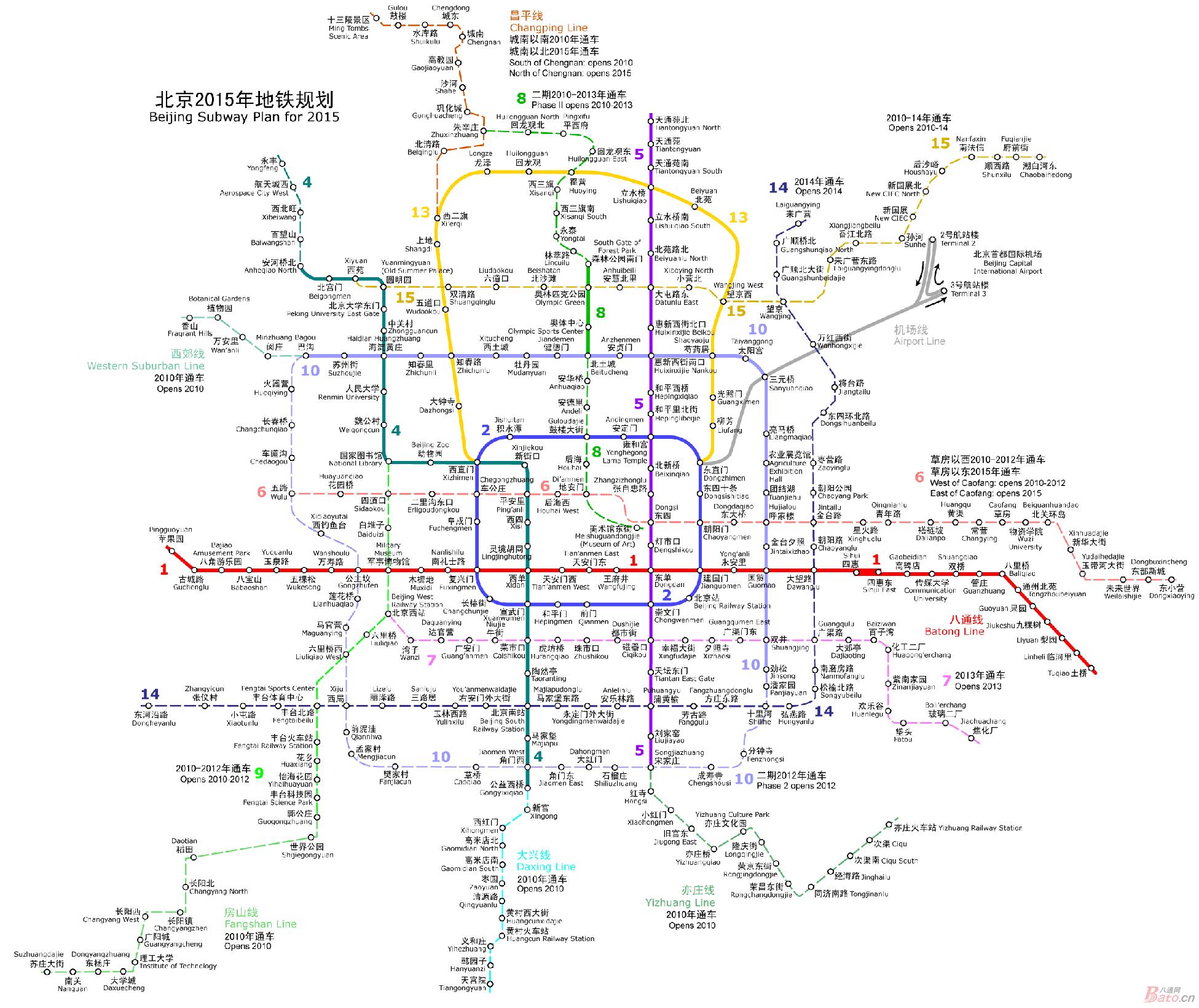 北京新地铁线路图图片