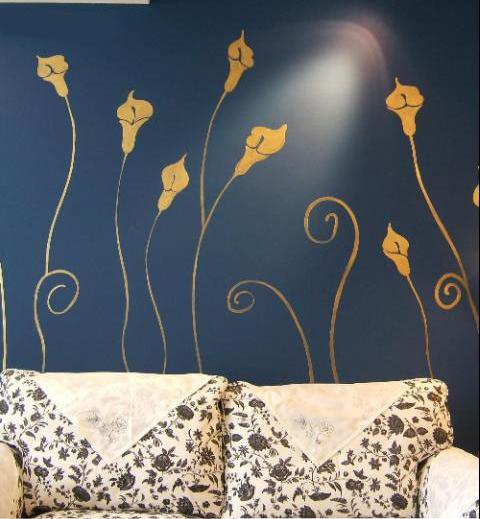 家装时尚很简单,墙体彩绘换新颜!