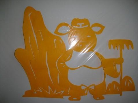 小星星幼儿园老师的剪纸作品
