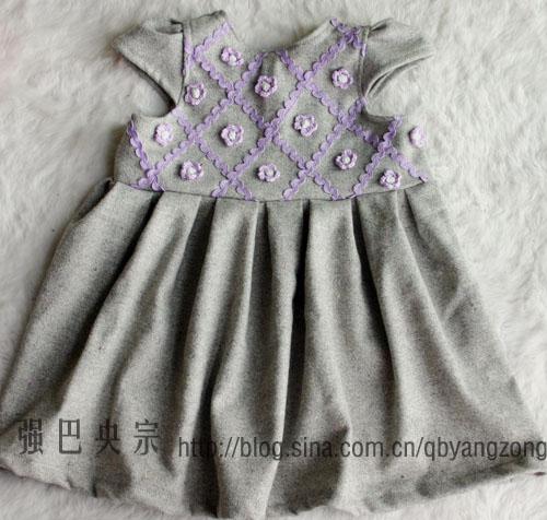 小孩裙子设计图