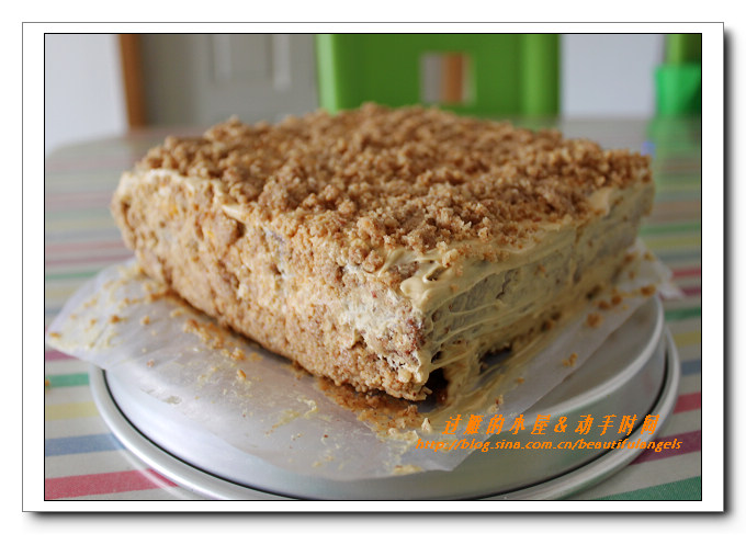 方形六寸花生奶油蛋糕