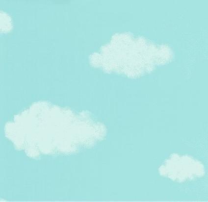 蓝天白云图案儿童墙纸