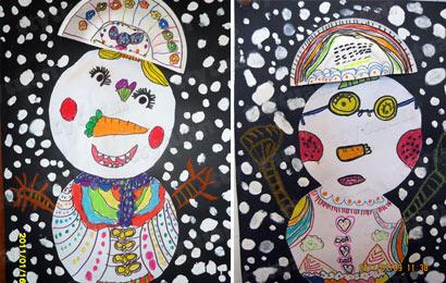 儿童水粉创意画图片
