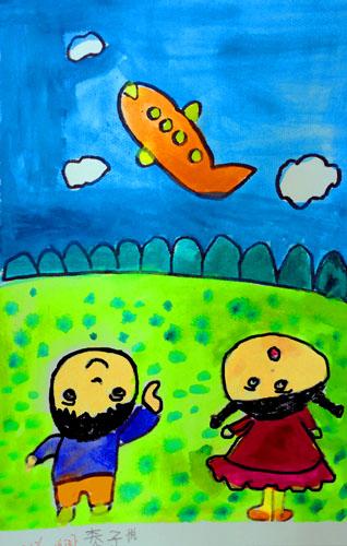 8岁儿童水粉画