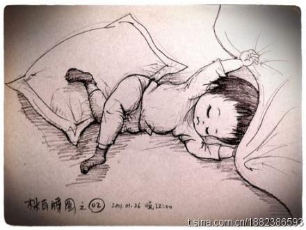 超可爱,超有纪念意义的宝宝百睡图,这个爸爸太有才了.