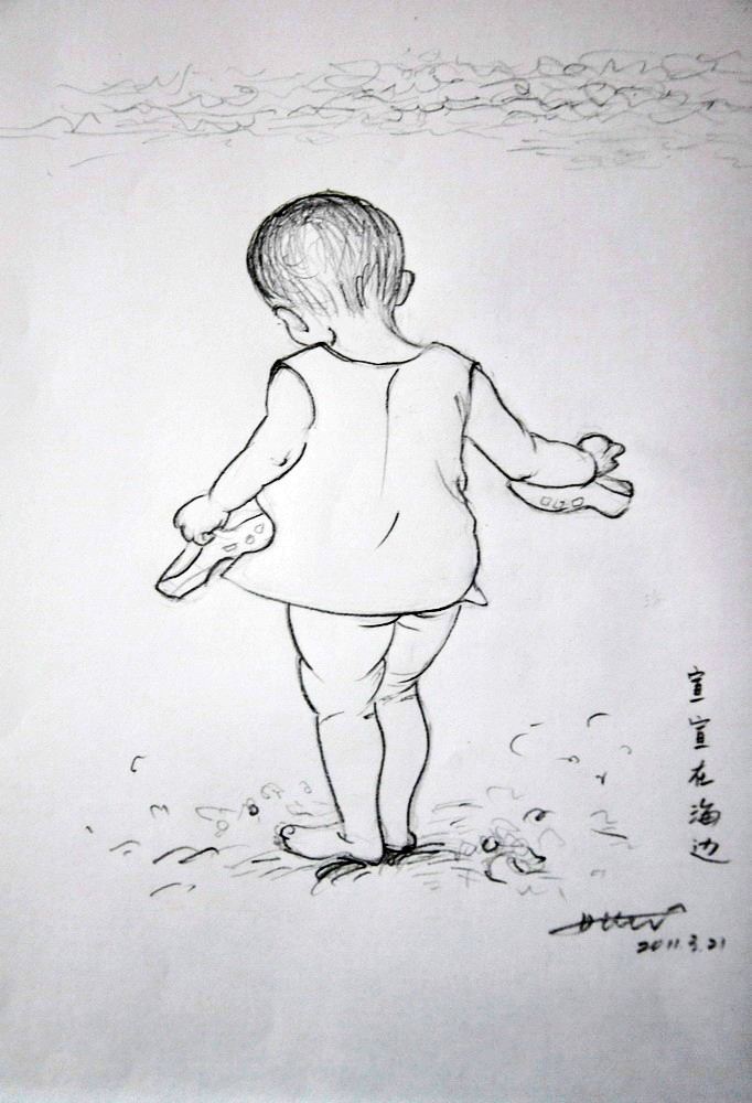 简笔画手绘素描线稿