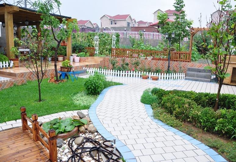 小花园设计实景图农家