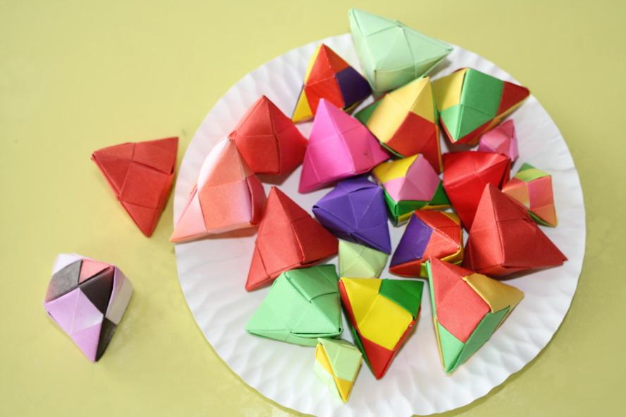 粽子折纸第二步骤