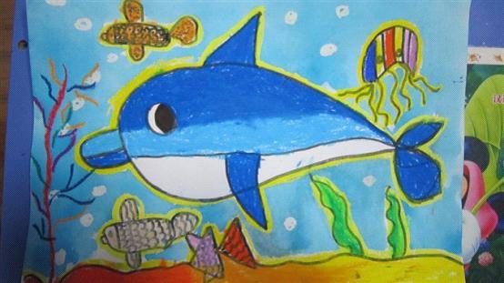 金马驹幼儿园美术课中孩子们的作品->妖转移