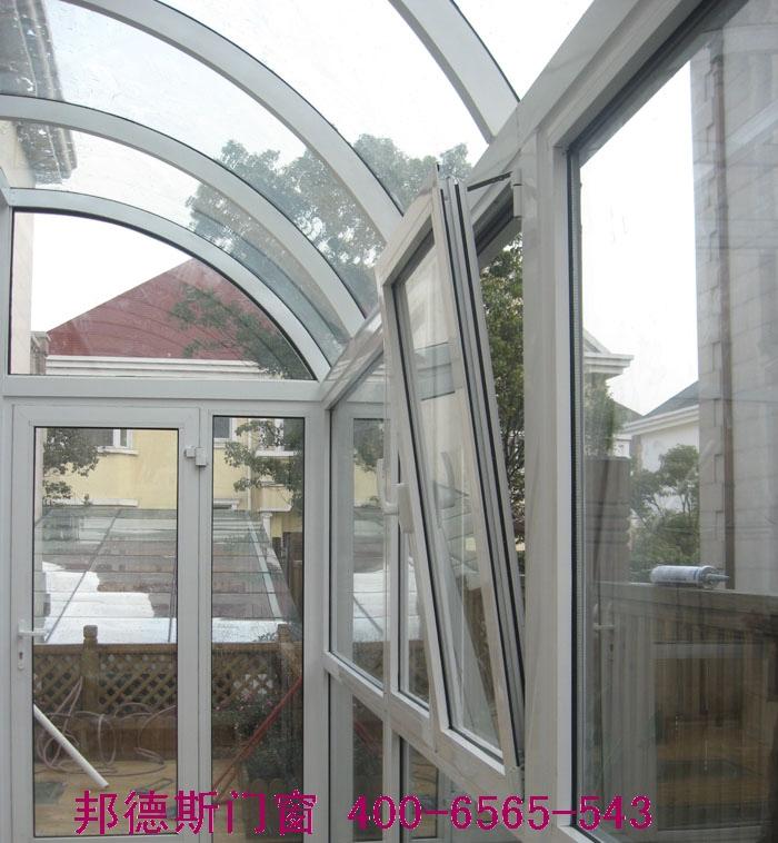 编辑本段露台阳光房设计与选材    夹胶钢化玻璃是两片或数片浮法