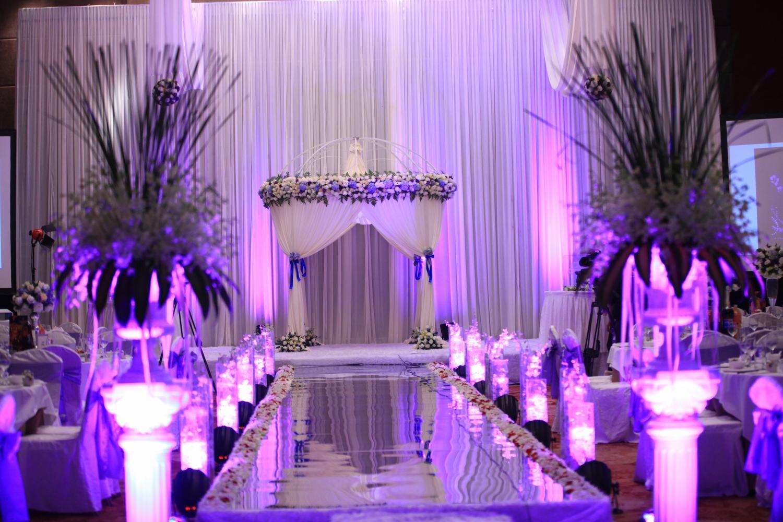 粉紫色婚礼花艺 - 枞阳网