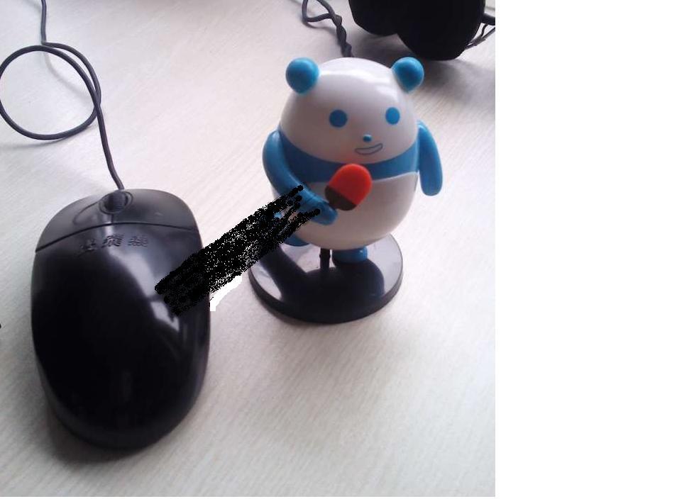 在网上搜到那个宝岛眼镜跨栏熊猫的图片了,跟鼠标一样大小,好