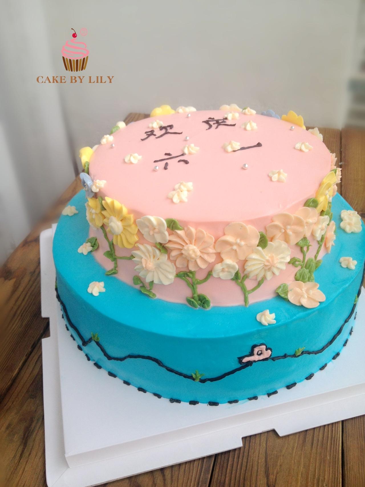 蛋糕盘绘画动物图片
