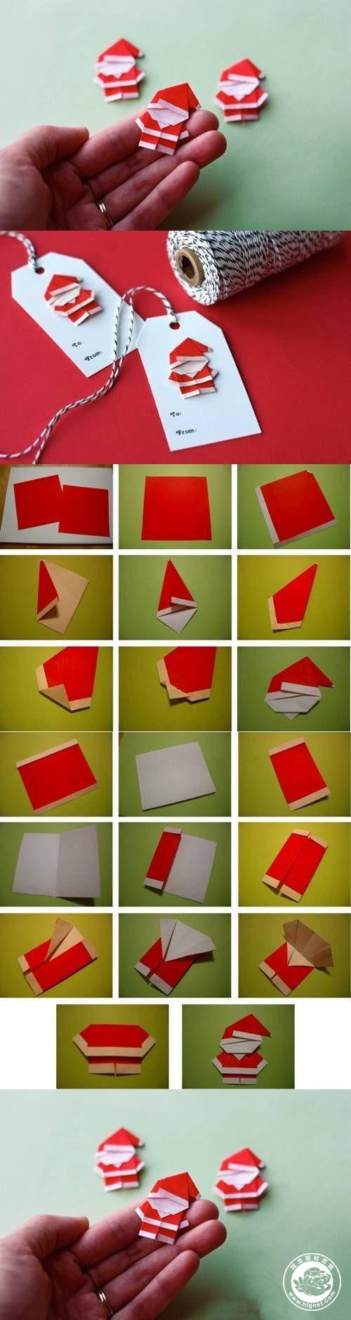 圣诞老人折纸做法图解!