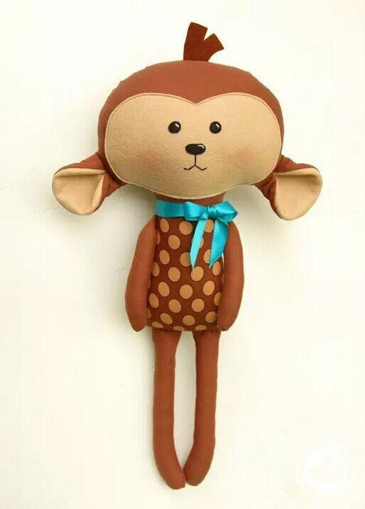 跟孩子一起做只可爱小猴子吧!