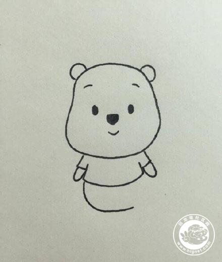 画一只超可爱的小熊维尼