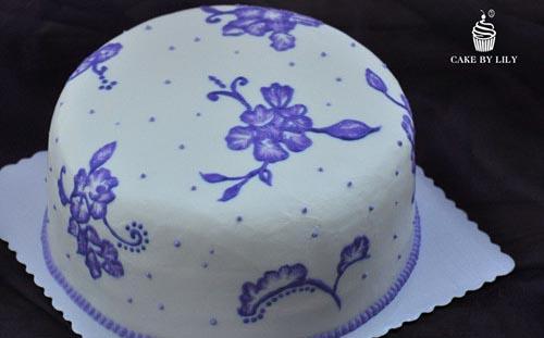 青花瓷刷秀蛋糕
