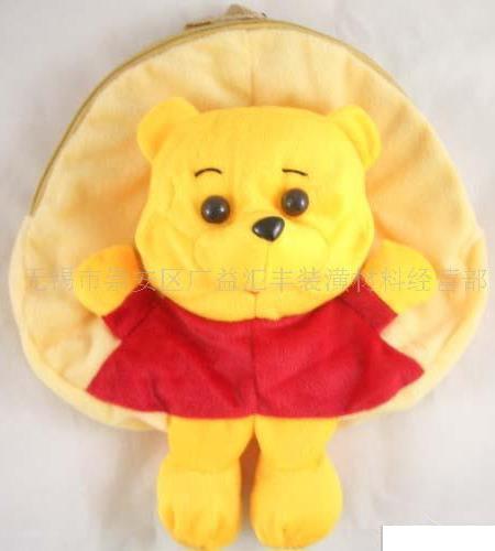 可爱的小孩毛绒玩具背包