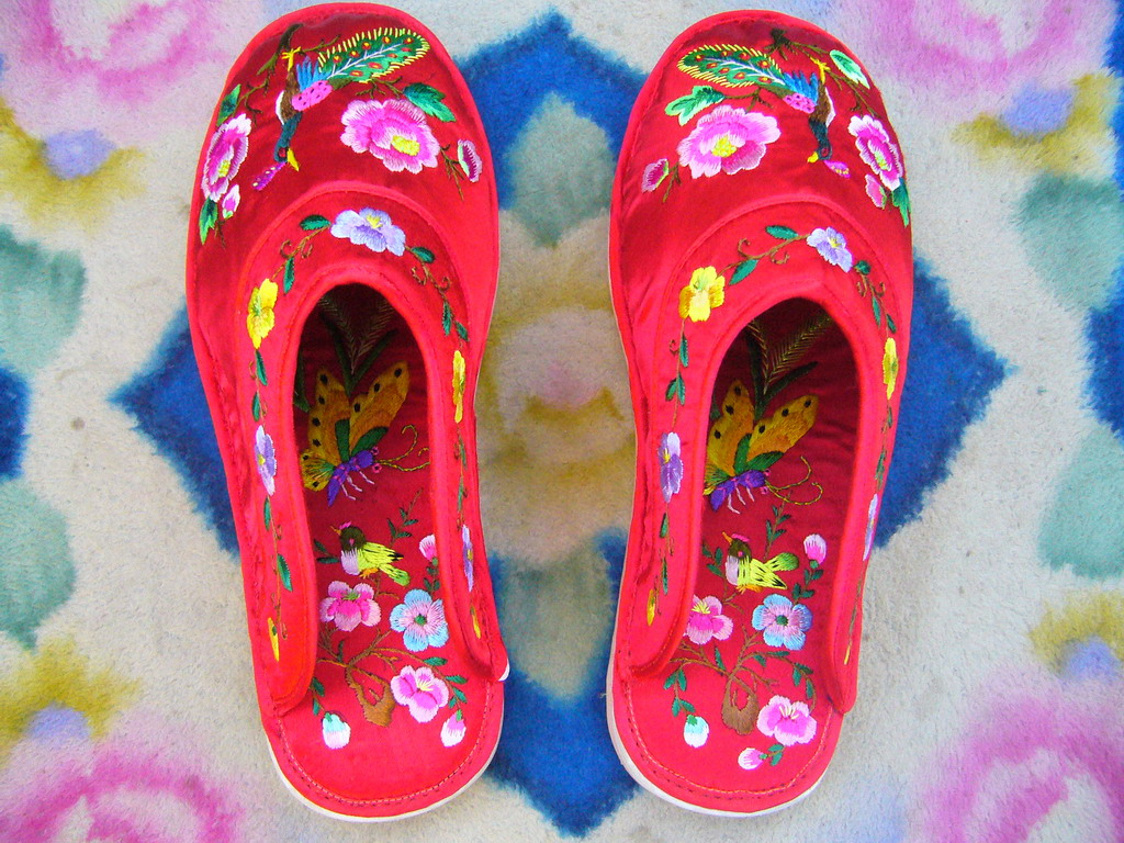手工刺绣鞋垫