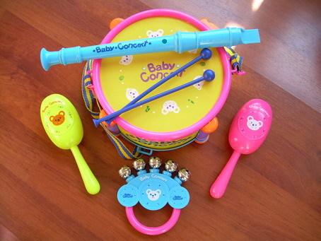 儿童玩具套装小鼓,砂槌