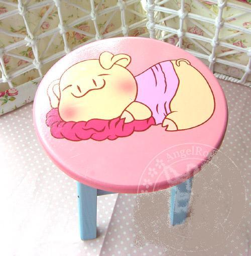超可爱木制卡通小板凳