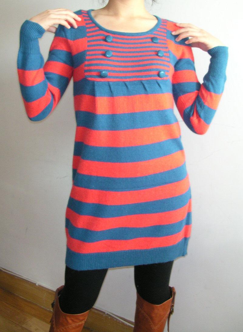 毛衣搭配冬裙图片