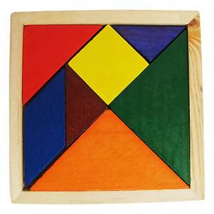 儿童墙贴身高尺~早教木质玩具~七巧板
