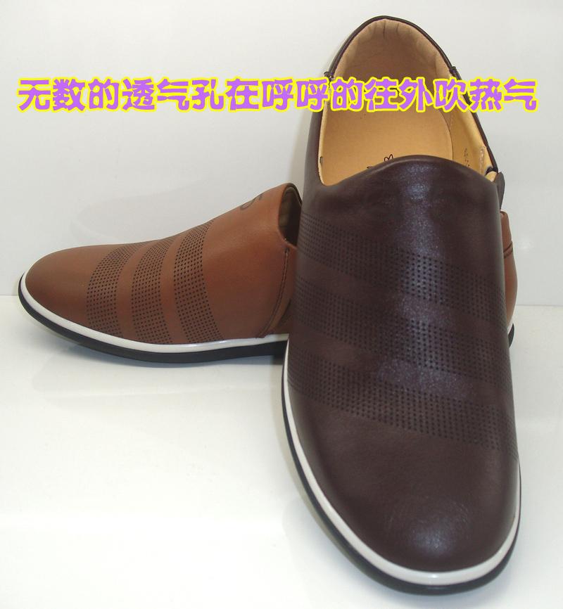 男人的鞋●商场正品红蜻蜓男士皮凉鞋