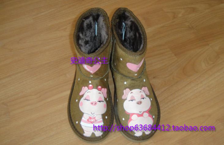 精美可爱的手绘雪地靴