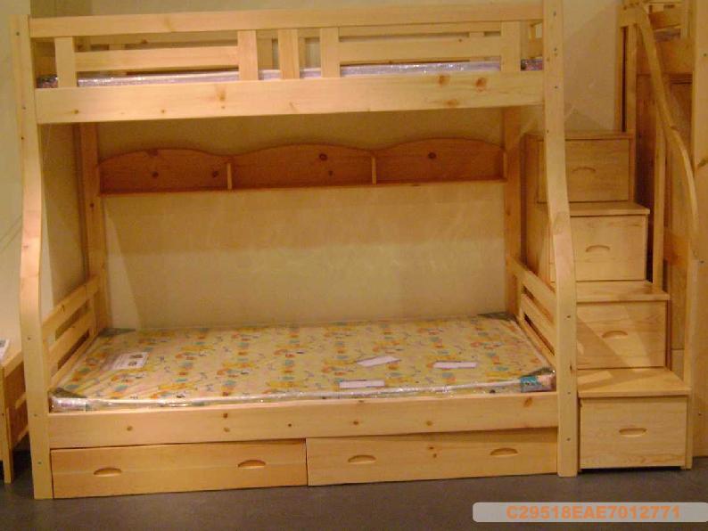 实木家具定做,儿童床学习桌椅定做