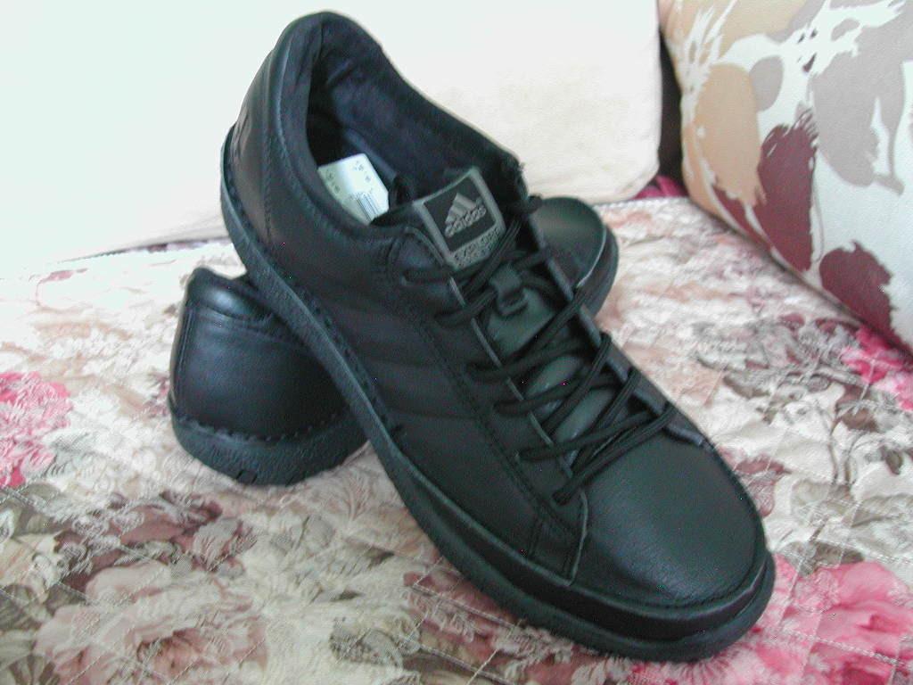 团购正品adidas男款休闲皮鞋