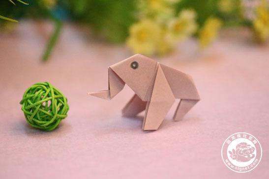 超好玩的折纸游戏---大象