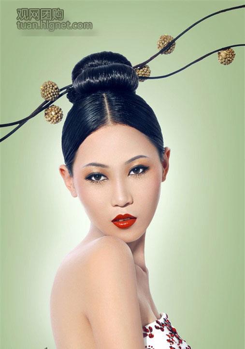 年会妆面发型图_【年会怎么化妆】_手绘妆面图