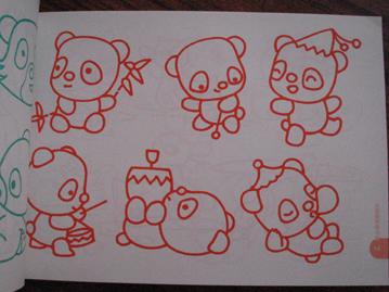 秋天动物世界简笔画