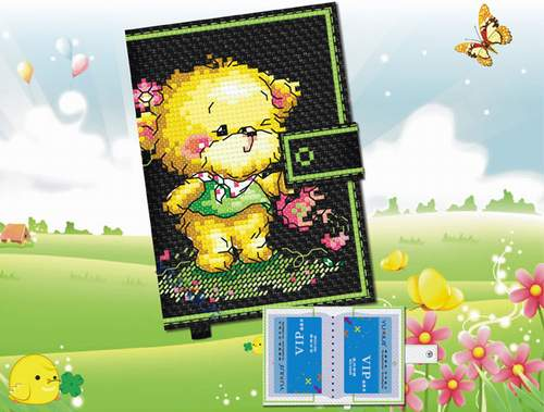 绣——春天的小熊 卡包;