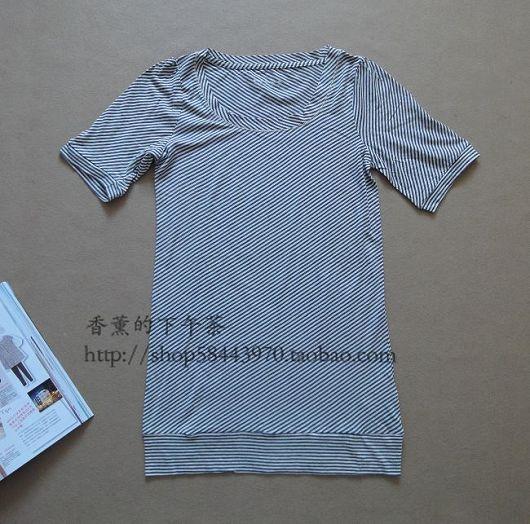 图二十八:海洋风格条纹t恤     45元  如果支付宝支付只要39元.