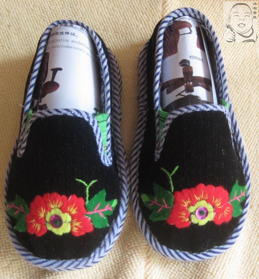 手工婴儿布鞋鞋样图;