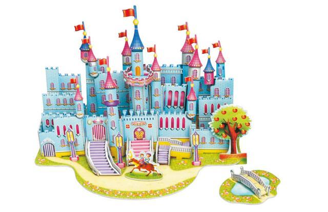 手工立体城堡作品步骤