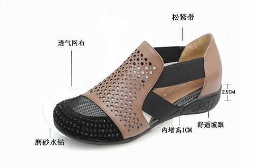 哈森女凉鞋+宾度男凉鞋