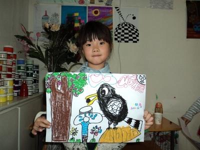 六年级社区画画图片
