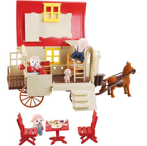 积木搭建动物房子